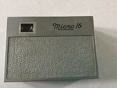Micro 16 VTG Subminiature Mini Spy Camera Made by Whittaker FREE SHIPPING USA