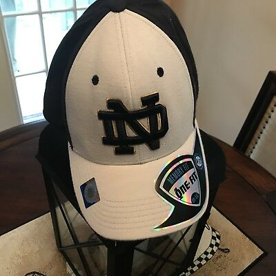 the latest 73c43 1c0be New Notre Dame Fighting Irish White Stretch Fit Hat by Top of the World -  OSFM