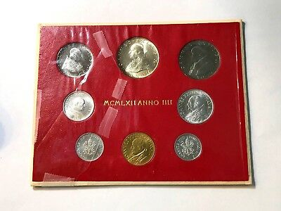 1962 Vatican Mint Set in Original Packaging with Silver 500 Lira Coin