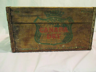 Vintage Canada Dry Wood Box Crate Fc 3 64