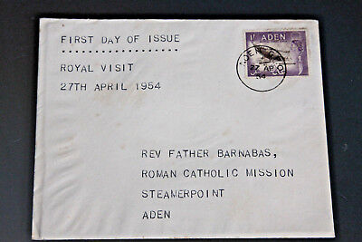 Aden - 1954 Royal Visit - First Day Cover