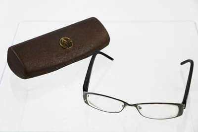 Adrienne Vittadini Black Gunmetal Frame Rectangular Prescription Eyeglasses