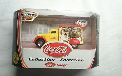 Matchbox 1937 Dodge Norman Rockwell Die Cast Coca Cola 50Th Anniversary Edition