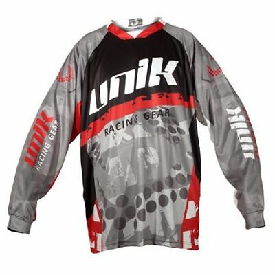 "Camiseta Cross Unik ""mx01"" Gris/rojo Negro"