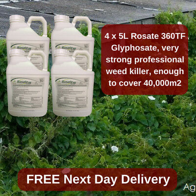 VERY STRONG PROFESSIONAL WEED KILLER ROSATE 36 5L KILL GRASS x4