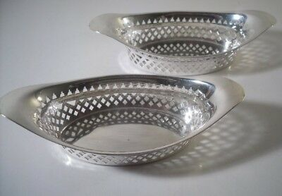 A Pair of Antique Georgian Style Silver Table Baskets  : Sheffield 1897