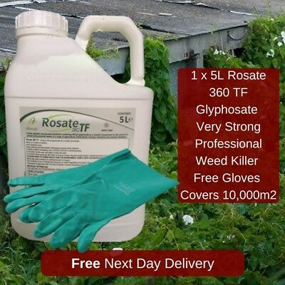Strong Professional Weed Killer Rosate 36 Kill Grass And Broadleaf Weed 5L Glove