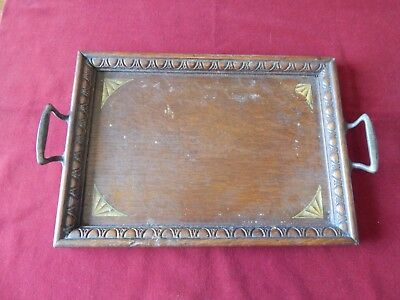 Vintage Wood Oak? Small Tray Old