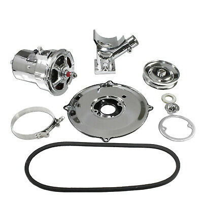 VW Chrome Alternator Conversion Kit 12 Volts 75 Amp Complete (Early Bug /Ghia..)