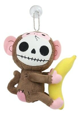 Munky Monkey Furry Bones Plush Stuffed Animal Doll Ornament With Suction Cup