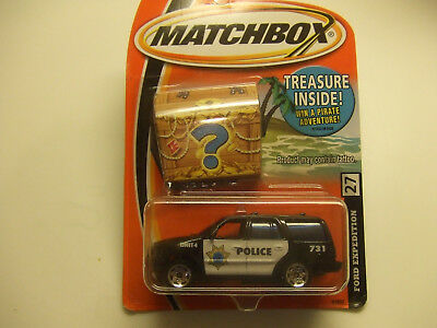MATCHBOX treasure inside ford expedition police