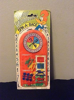 NIP Vintage Larami Woody Woodpecker Spin A Race Game Toy Walter Lantz Cartoon