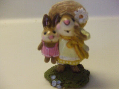 wee forest folk a. p. miss daisey yollow dress / pink bunny pre owned mint