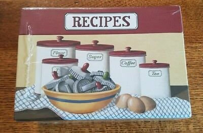 Recipe Card Box Legacy 50 Cards NIP Cooking Kitchen 4x6 Best Cute Sturdy