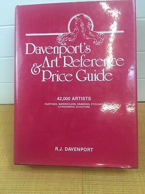 Davenport's Art Reference & Price Guide 1986 With Dust Jacket Signed By Author .