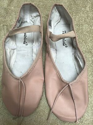 THEATRICALS Adult Premium Leather Full Sole Ballet Shoes Size 7