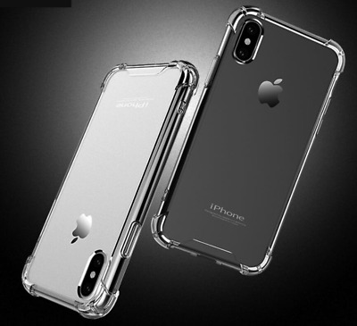 For Apple iPhoneXR XS MAX Silicone Clear Bumper Rubber Case Cover Protective Lot