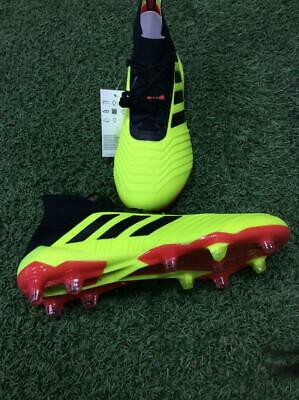 the best attitude 509ad 97fae Adidas Mens Cleated Soccer Shoes Predator 18.1 FG BlackYellowRed - DB2037