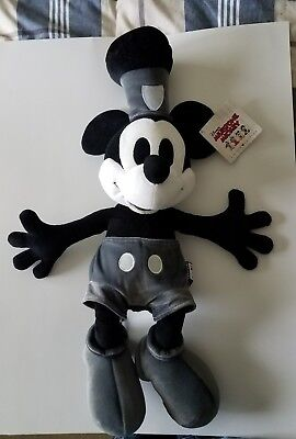 """Disney Milestone Mickey Mouse 22"""" Plush Steamboat Willie 1928 Limited Edition"""