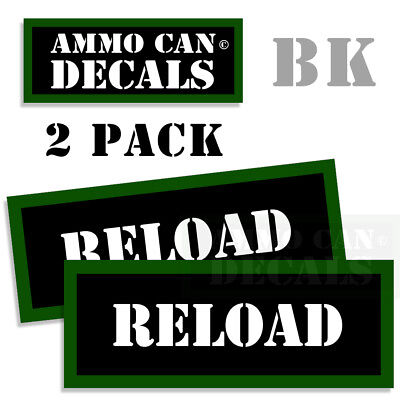 """AXES Ammo Can 2x GREEN Labels Ammunition Case 3/""""x1.15/"""" sticker decals 2 pack"""