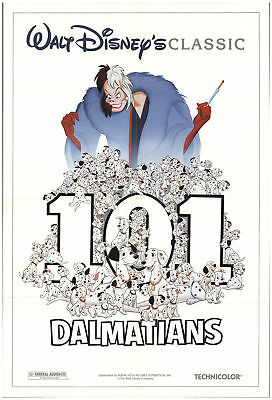 101 Dalmatians 1991 27x40 Orig Movie Poster FFF-69832 Rolled Rod Taylor