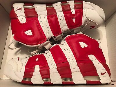 c8409e492a NIKE AIR MORE Uptempo Gym Red White- Size 13 - Used DS Limited ...