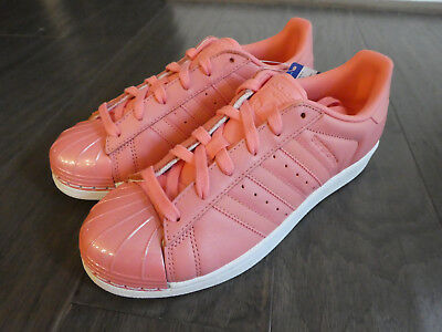 397de42cb09b Adidas Womens Superstar Metal Toe shoes sneakers new BY9750 Tactile Rose