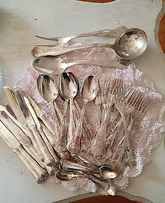 silver plated cutlery set made  italy great for craft jewellery making can post