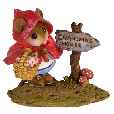 RELUCTANT RED by Wee Forest Folk, WFF# M-582, Red Riding Hood Mouse