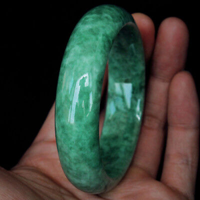 100% Natural Floating Flowers Jadeite Jade Bangle MBJB240