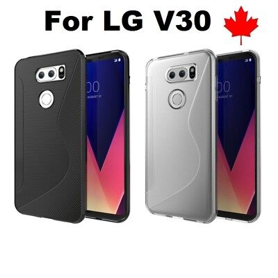For LG V30 (LGH933) - TPU Anti-Scratches Soft Silicone Rubber Cover Case