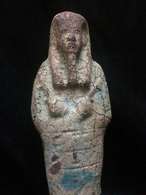 Rare ANCIENT EGYPT USHABTI Antiques EGYPTIAN SHABTI Faience STATUE GOODS 2100 BC