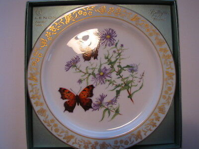 """Lenox First Limited Edition """"Butterflies And Flowers"""" Collector Plate-1982"""