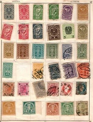 Austria 1867 onwards early selection Used 150+ stamps (7 scans)