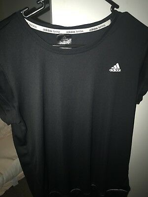 Adidas Black Top BNWOT Tennis Shirt Sports Activewear Large Fit Size 10 - 12