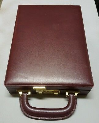 Small Compact Travel Jewelry Carrying Case w/ Combination Lock