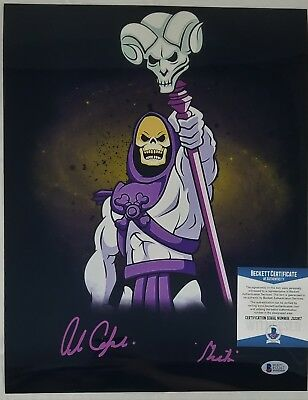Alan OPPENHEIMER SIGNED 11x14 Photo SKELETOR MOTU BECKETT BAS COA 267 FILMATION