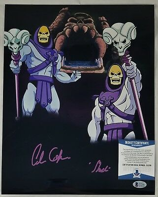 Alan OPPENHEIMER SIGNED 11x14 Photo SKELETOR MOTU BECKETT BAS COA 209 FILMATION