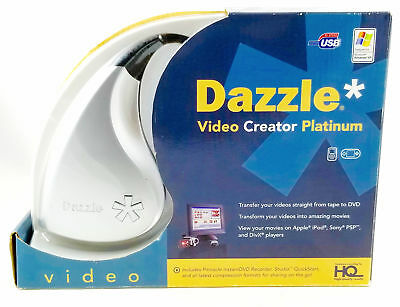 Dazzle Video Creator Platinum DVC 170 USB, VHS 2 DVD Capture Recorder, Free Ship