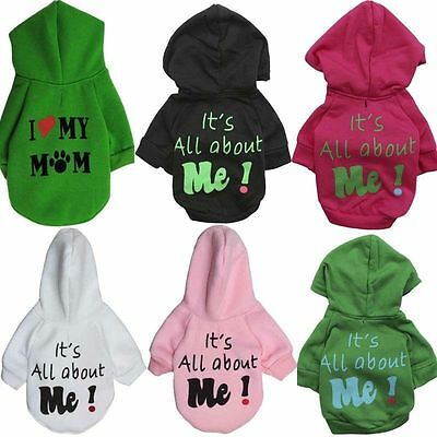 Small Cute Pet Dog Cat Puppy Warm Sweater Hoodie Coat Costume Apparel