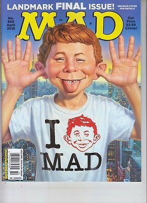 "Last ""old Look"" Mad Magazine April 2018 No Label Donald Trump Letter"