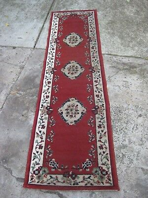 Hall Runner Rug Length 7Ft 5 Inches X Width 23 Inches. Nice Bright Colours