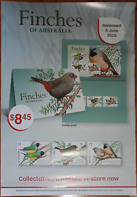 Australia Post 2018 Finches Of Australia Stamp Promo Posters (2)
