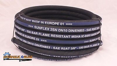 "Hydraulic Hose 3/8"" Two Wire 35 Meters SAE100R2-06 MSHA EUROPEAN MADE 4890 PSI"