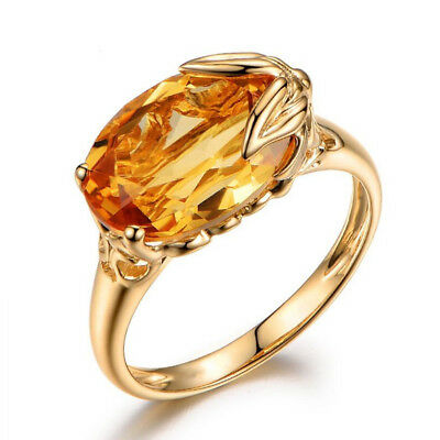 Crystal Rhinestone Fashion Jewelry Gold Plated Women Ring Party Engagement 2018