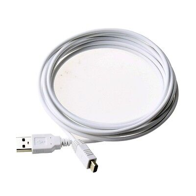 Long 3M 10Ft USB Charger Cable Lead For Nintendo Wii U WIIU Gamepad Controller