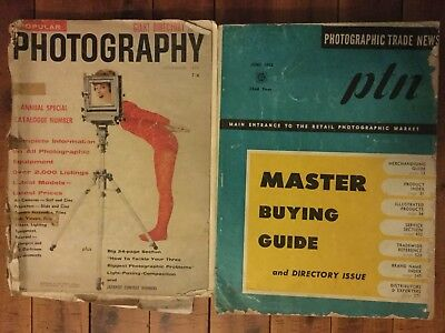 Popular Giant Directory Of Photography 1959 & Photographic Trade News 1958