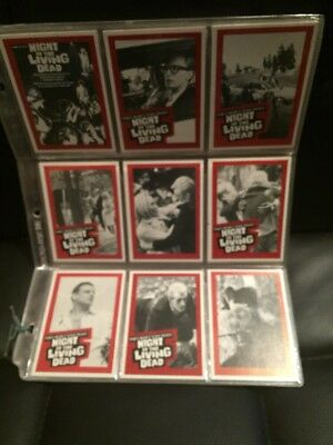 Night Of The Living Dead Trading Cards George A Romero Zombies