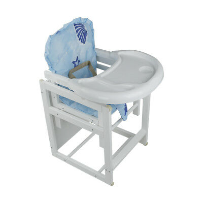 Baby Toddler Infant Highchair Feeding Chair 3 IN 1 Multi-function Wooden Seat UK