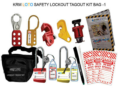 Krm Loto - Safety Lockout Tagout Kit Bag 1